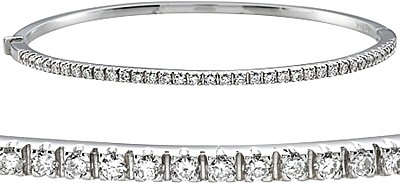 06b804d675640 18k White Gold .70ct Diamond Bangle Bracelet