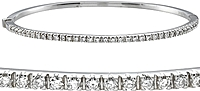 18k White Gold .70ct Diamond Bangle Bracelet