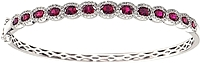 18k White Gold Diamond & Ruby- 1.96cts