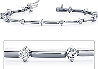 18k White Gold Diamond Bracelet - 1.00ct