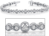 18k White Gold Diamond Bracelet - 1.75ct tw