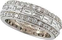 18k White Gold Diamond Eternity Ring
