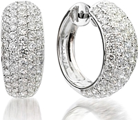 18k White Gold Diamond Huggys-2.98cts