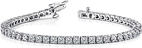 18k White Gold Diamond Tennis Bracelet - 5ct tw