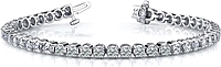 18k White Gold Diamond Tennis Bracelet - 9.50ct tw