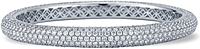 18K White Gold Pave Diamond Bangle- 16.40ct TW