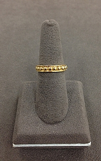 18k Yellow Gold Beaded Ring