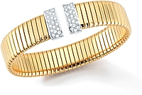 18k Yellow Gold Diamond Cuff