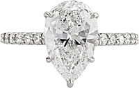 2.61ct GIA D/I1 Pear Shape Diamond Engagement Ring