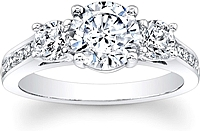 3-Stone Channel Set Diamond Engagement Ring