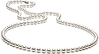 36-inch 6.0-7.0mm White Freshwater Pearl Necklace
