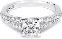 .50ct Princess GIA F/VS2 Tacori Engagement Ring
