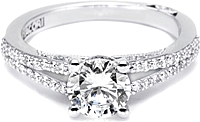 .50ct Round Brilliant GIA G/SI1 Tacori Engagement Ring