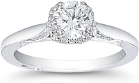 .50ct Round Brilliant GIA G/SI12 Tacori Engagement Ring