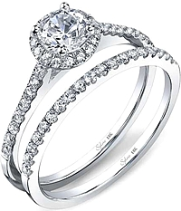 .51ctw Round Brilliant Cut Sylvie Diamond Engagement Ring