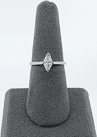 .57ct GIA G/VS2 Marquise Solitaire Diamond Engagement Ring