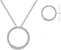 .64ct 14k White Gold Diamond Journey Circle Pendant