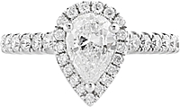 .70ct GIA H/SI1 Pear Shape Diamond Engagement Ring