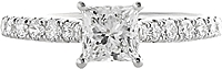 .71ct G-H/SI2 Princess Cut Diamond Engagement Ring