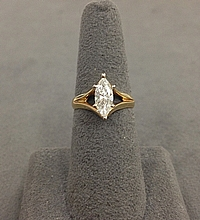 .84ct Marquise H/SI2 Diamond Engagement Ring