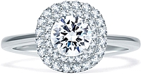 A.Jaffe Double Halo Diamond Engagement Ring