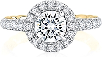 A.Jaffe Pave Halo Diamond Engagement Ring