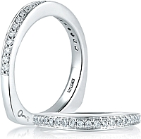 A.Jaffe Shared Prong Diamond Wedding Band