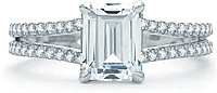 A.Jaffe Split Shank Diamond Engagement Ring