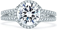 A.Jaffe Split Shank Pave Diamond Engagement Ring