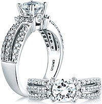 A.Jaffe Triple Row Diamond Engagement Ring