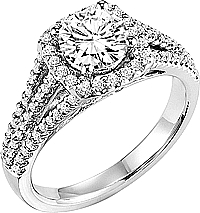 "Art Carved ""Ava"" Triple Row Diamond Engagement Ring"