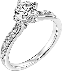 "Art Carved ""Juliet"" Diamond Engagement Ring"