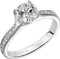 "Art Carved ""Leah"" Diamond Engagement Ring"