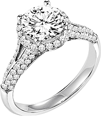 "Art Carved ""Reese"" Diamond Engagement Ring"