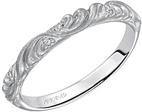 Art Carved Scroll Diamond Wedding Band