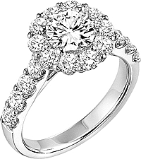 "Art Carved ""Wynona"" Diamond Engagement Ring Setting"