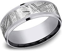 Benchmark 8mm Meteorite & Tantalum Men's Wedding Band