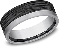 Benchmark Black Tantalum 7mm Mens Wedding Band