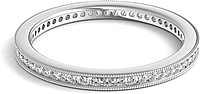 Channel Set Milgrain Round Brilliant Diamond Eternity Ring .25ct tw