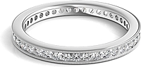Channel Set Milgrain Round Brilliant Diamond Eternity Ring .50ct tw