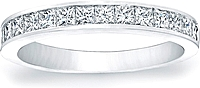 Channel-Set Princess Cut Diamond Band