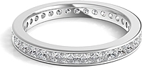 Channel Set Princess Cut Diamond Eternity Ring 1.50ct tw