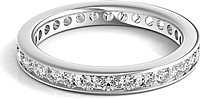 Channel Set Round Brilliant Cut Diamond Eternity Ring 1.00ct tw