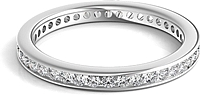 Channel Set Round Brilliant Cut Diamond Eternity Ring .50ct tw