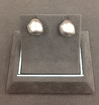 Chimento 18k White Gold Nugget Earrings