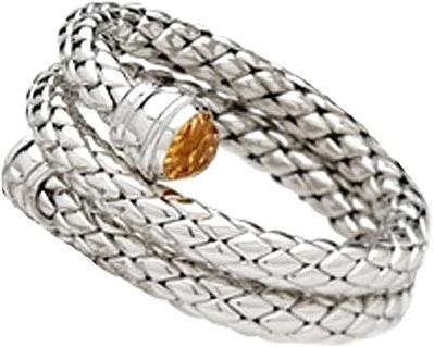 Chimento Silver Double Wrap Bracelet