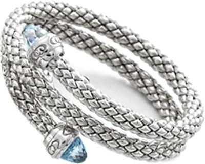 Chimento Sterling Silver Double Wrap Bracelet 1bq0812w35