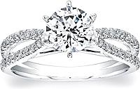 Coast Diamond Split Shank Diamond Engagement Ring