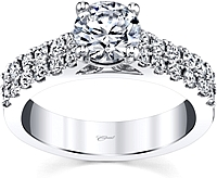 Coast Double Row Diamond Engagement Ring