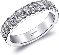 Coast Double Row Diamond Wedding Band